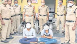 Two Students Arrested In Bike Theft Case - Sakshi
