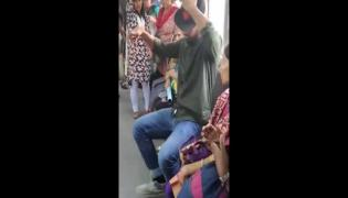 Viral Video: Man Uses Bizarre Trick To Get Seat In Crowded Metro