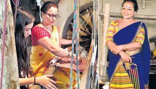 Assam Women Rupjyoti Saikia Gogoi Turns Plastic Waste Into Handloom Products - Sakshi