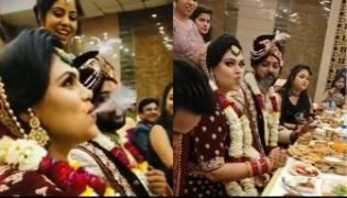 Viral Bride Puffs Away Rings of Smoke in Front of Guests During Eedding - Sakshi