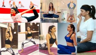 International Yoga Day: Heroines About Yoga Importance To Stay Fit  - Sakshi