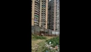 Viral Video: Man Holds Woman Hanging From Balcony Fallsdown