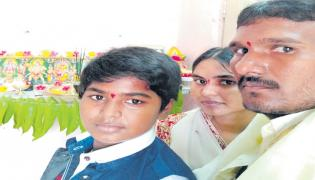 Three Members Of Family Commit Suicide Jump Into Krishna River - Sakshi