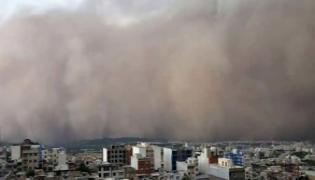 Mega Sandstorm Engulfs Dunhuang City In China Video Goes Viral - Sakshi