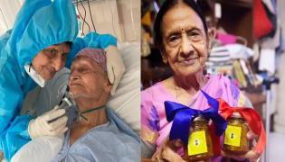 Grandma Lost Her Husband to COVID,NowPicklesTo Raise Money For Affected - Sakshi