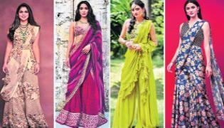 Sharara Saree Dress: Latetst Designs, Stylish Look, Sharara Style Saree - Sakshi