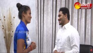 CM YS Jagan Greets AP Hockey Player Rajani