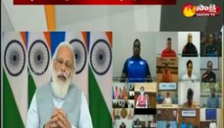 PM Modi Video Conference With Tokyo Para Olympic Players
