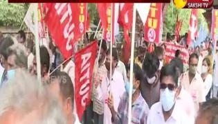 vishaka steel plant workers agitation in delhi today