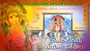 40-Feet Of Khairatabad Ganesh Idol Manufacturing Work Special Video