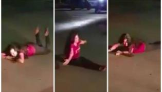 A Drunk Woman Blocks Traffic And Sleep On Road In Pune Video Goes Viral - Sakshi