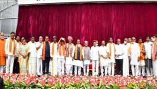 Karnataka Cabinet Expansion Basavaraj Bommai 29 Ministers Take Oath - Sakshi