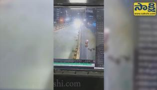 Actor Sai Dharam Tej Road Accident CCTV Footage