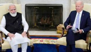 Prime Minister Narendra Modi meets Joe Biden - Sakshi
