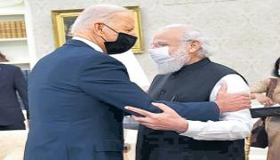 PM Narendra Modi First Bilateral Meeting With US President Joe Biden - Sakshi