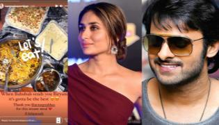 Bahubali Prabhas Sends Biryani to Kareena Kapoor - Sakshi