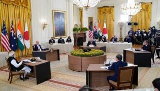 Quad leaders press for free Indo-Pacific amid China tensions - Sakshi