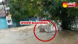 Viral Video: Ganesh Idol Washed Away By Heavy Flood