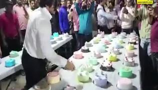 Viral Video: Indian Man Cuts 550 Cakes In Mumbai For His Birthday