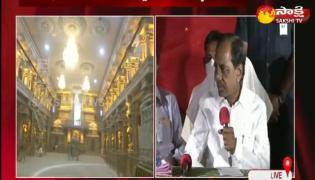 TelanganaL CM KCR Yadadri Tour Highlights