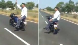 Desi Driverless Motorcycle Video Viral Anand Mahindra Caption It - Sakshi