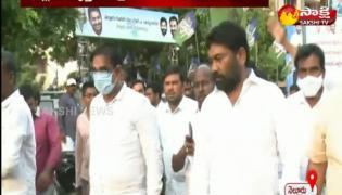 ysrcp protest against tdp leader pattabhi comments cm ys jagan