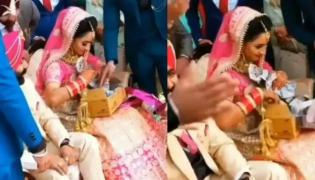Viral: Bride Shocked Smiled After Opening Special Gift box Open In Front Of All - Sakshi