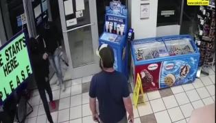 Viral Video: Marine Veteran Disarms Robber Breaking Into US Gas Station Store
