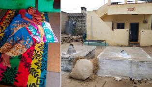 Kurnool Ayyakonda Village Not Use Bed And Tombs In Village - Sakshi
