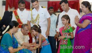 Rakhi celebrations in Rajbhavan