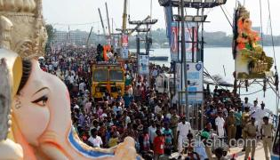 Ganesh immersion festivities in hyderabad