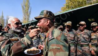 PM Narendra Modi celebrates Diwali in Kashmir, calls jawans 'his family'