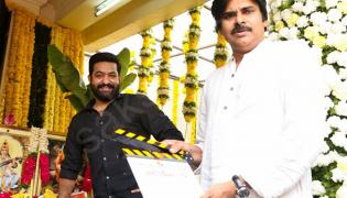 Pawan Kalyan attends the launch of Jr NTR and Trivikram - Sakshi