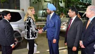 ivanka arrives in hyderabad - Sakshi