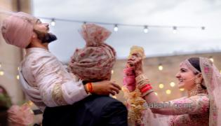 virat kohli and anushka sharma wedding - Sakshi