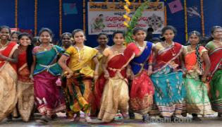 Sakshi Sankranthi Rangoli Competition at Netaji High School  - Sakshi
