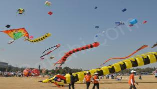 International Kite Festival 2018 at Parade Grounds - Sakshi