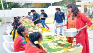 Lakshmi Manchu Sankranthi Celebrations with Govt School Students - Sakshi