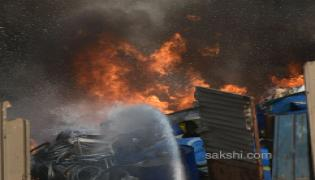 fire accident chemical godown - Sakshi
