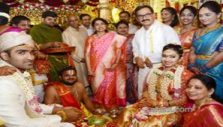 ys bharathi reddy attend bharathi cement director daughter marriage - Sakshi