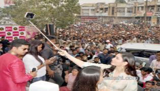 Tamanna launches B New 50th Mobile Store at Vizianagaram - Sakshi