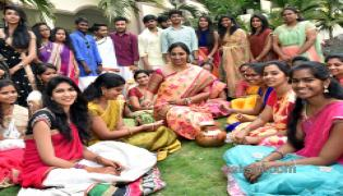 Ugadi 2018 Celebrations in MLRIT College - Sakshi