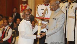 President Kovind confers the Padma Awards at Rashtrapati Bhavan - Sakshi