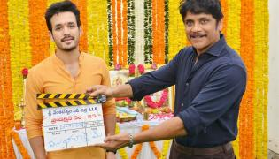 Akhil Venky Atluri BVSN Prasad Movie Launch Stills - Sakshi