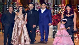 Akash Ambani with fiancee Shloka Mehta during their engagement party - Sakshi
