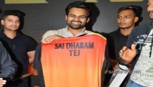 Sai Dharam Tej Sunrisers Hyderabad Jersey Launch - Sakshi