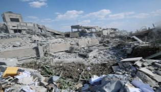 Shocking Pictures Show Aftermath of Air Strikes in Syria - Sakshi