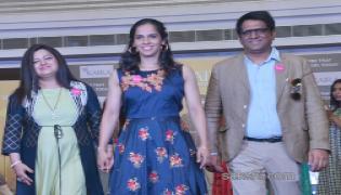 Saina Nehwal Ramp Walk  - Sakshi