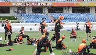 Sunrisers Hyderabad team practice session - Sakshi