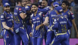 Mumbai Indians Beat Kings XI Punjab By 3 Runs - Sakshi
